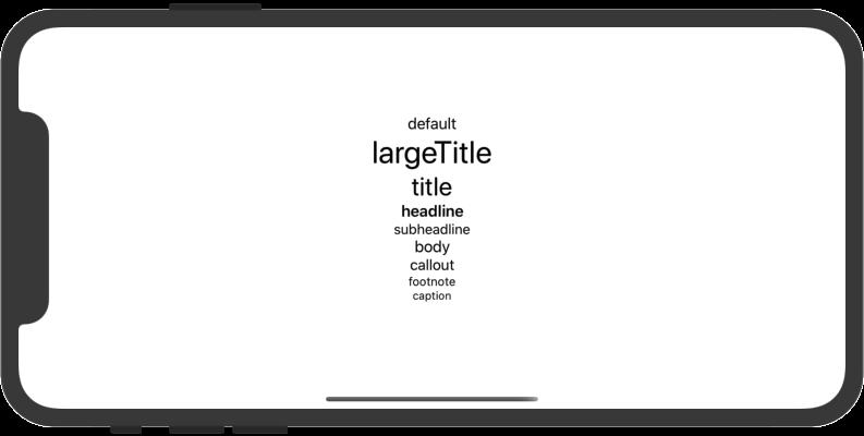 定義済フォントサイズ