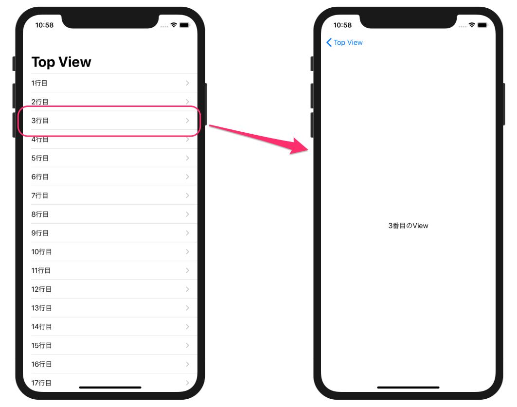 NavigationViewの表示例