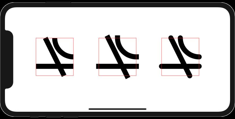 先端の形状指定